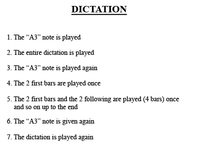 1 voice melodic dictation 1/3