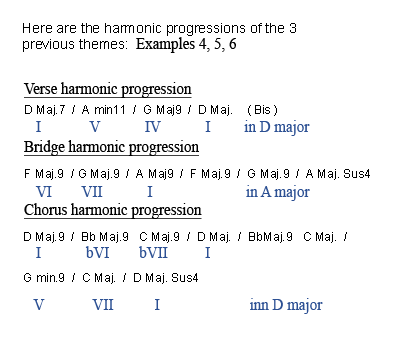 The harmonization 2 and the rhythm